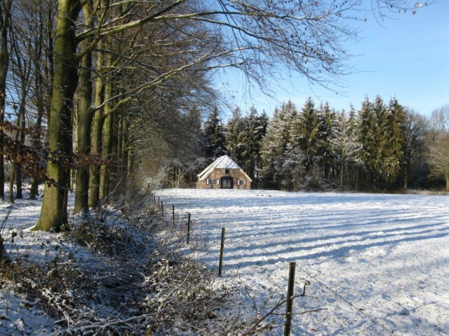 Sneeuw Vakantiehuisje Zelle Achterhoek