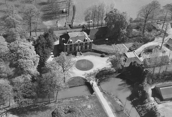 Luchtfoto van landgoed Zelle in de Achterhoek